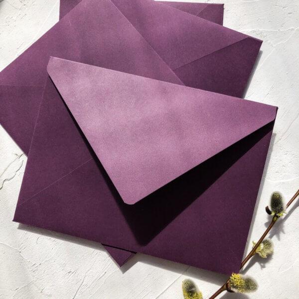 koperta fiolet C5 Design Your Wedding