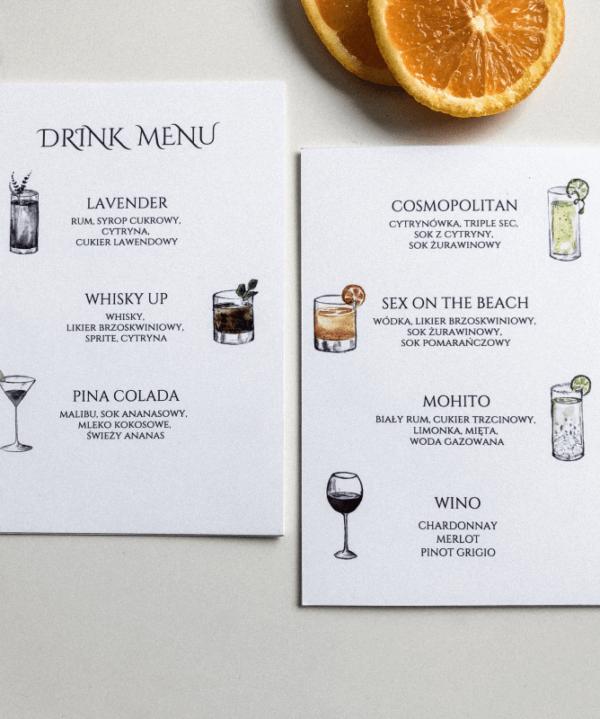 Drink menu_ Design Your Wedding