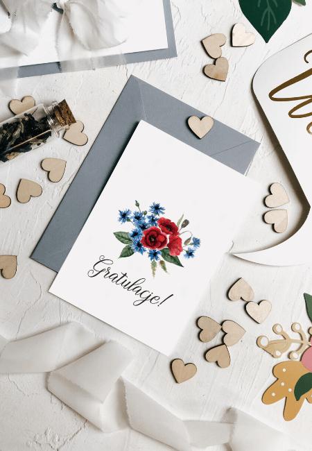 kartka na ślub maki Design Your Wedding