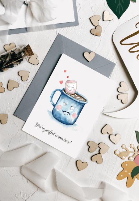 kartka na ślub gorąca czekolada Design Your Wedding