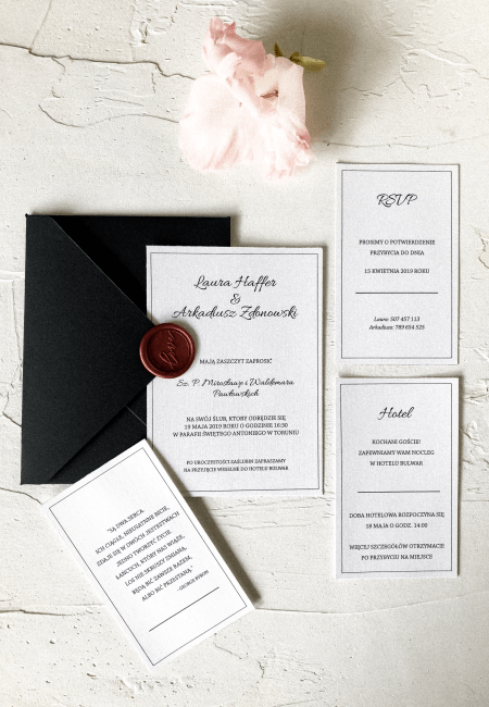 zaproszenie na ślub _ kolekcja _ Classic I _ Design Your Wedding _ v1