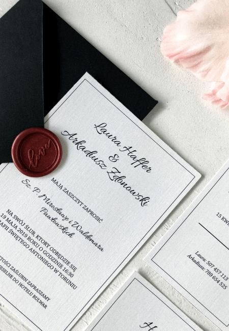 Zaproszenie na ślub _ kolekcja _ Classic I _ Design Your Wedding _ v2