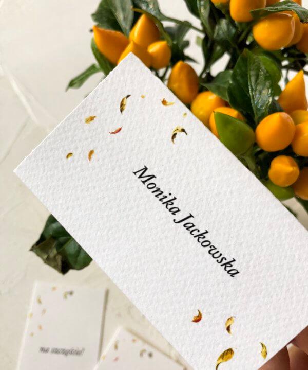 składana winietka _ jesienne listki _ Design Your Wedding