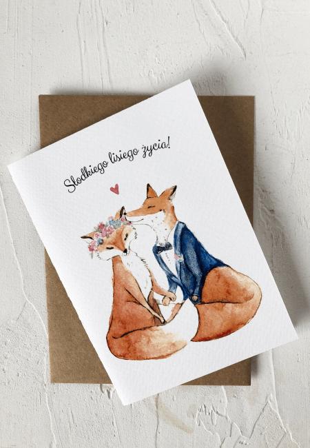 kartka z życzeniami na ślub I Design Your Wedding I Liski