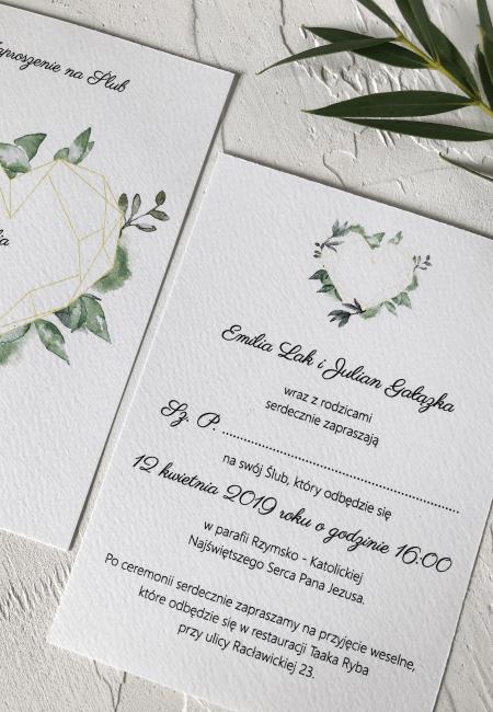 Geometryczne serce I Design Your Wedding I v2