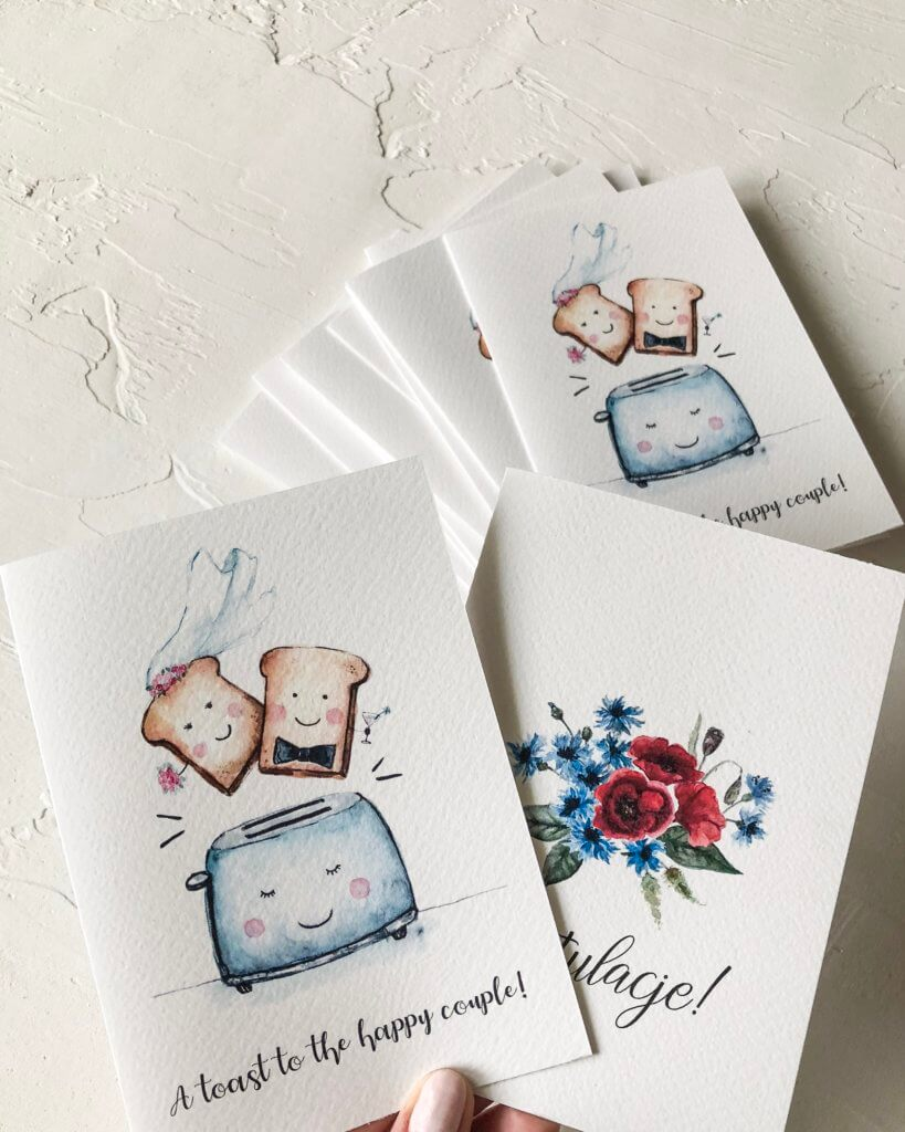 kartka na ślub toster maki I Design Your Wedding