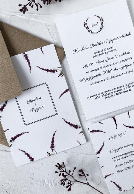 Rustykalne zaproszenia na ślub _Wrzosy I Design Your Wedding