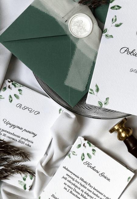 Zielone listki Design Your Wedding