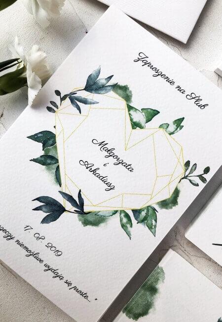 geometryczne serce _ design your wedding _ przód_