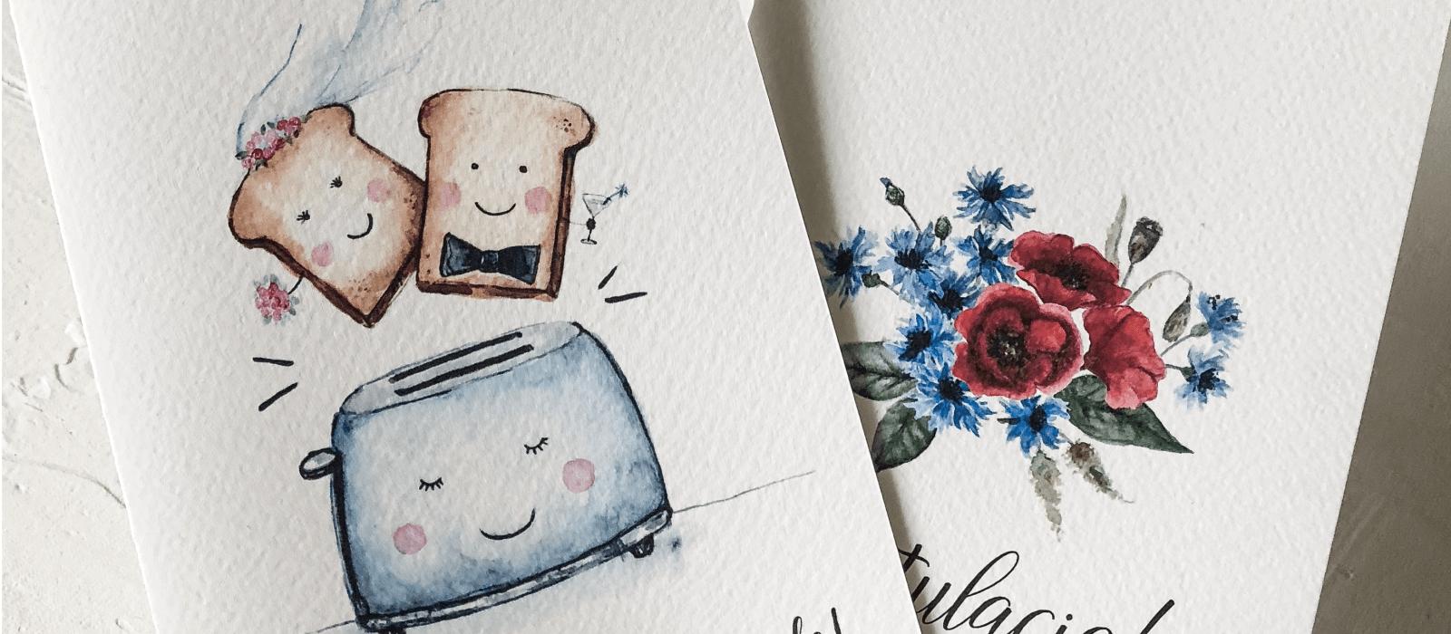 kartka z życzeniami na ślub I Design Your Wedding