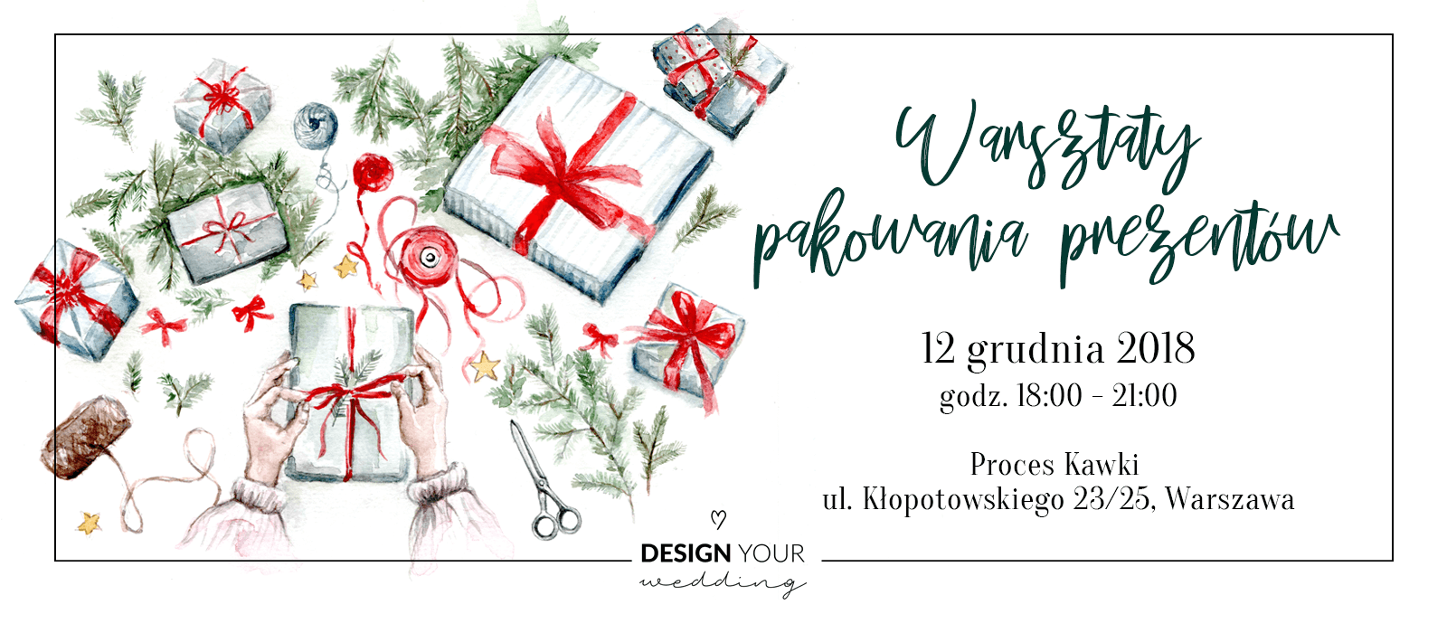 Warsztaty pakowania prezentów Design Your Wedding