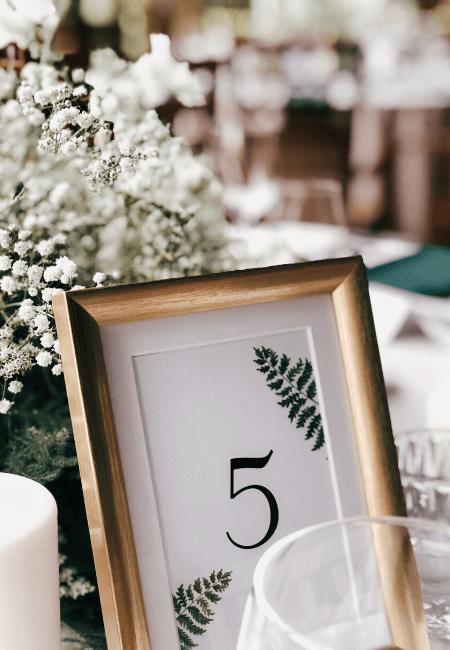 numeracja stołów design your wedding
