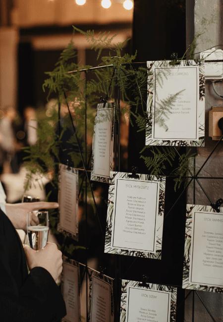 plan sali w formie kart design your wedding