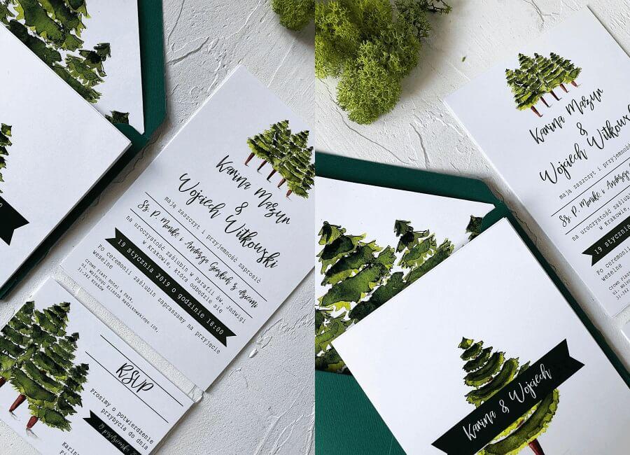 zaproszenia ślubne drzewa Design Your Wedding
