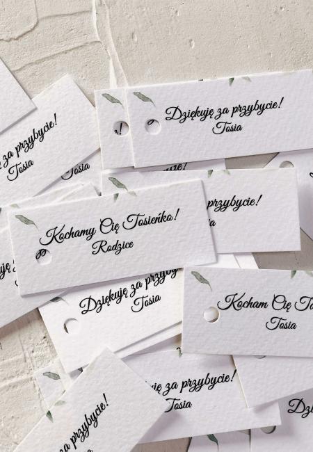 podziekowania na chrzest kroliczek Design Your Wedding