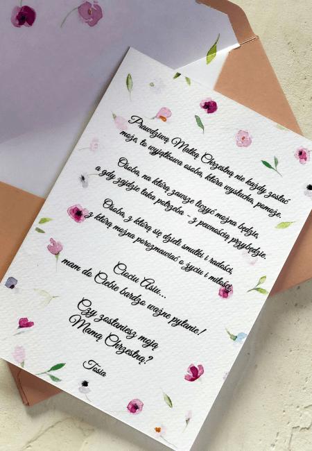 prosba o bycie chrzestna kroliczek Design Your Wedding