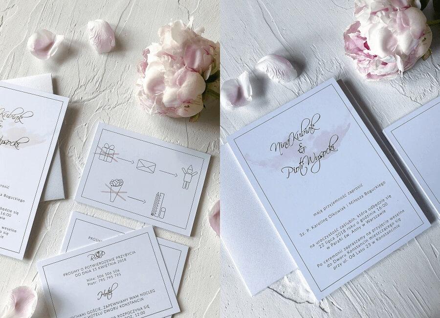 zaproszenia ślubne Rose Gold Design Your Wedding