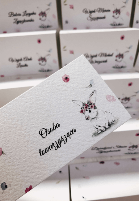 winietka na chrzest kroliczek Design Your Wedding