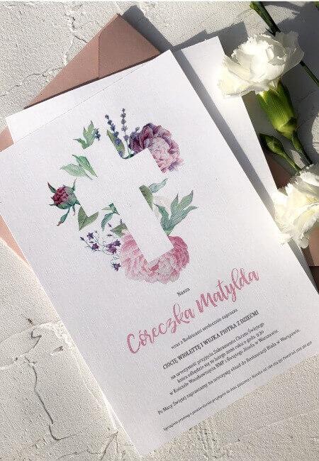 Zaproszenie na chrzest_ Aniela_ Design Your Wedding