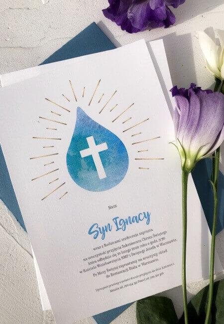 Zaproszenie na chrzest_ Ignacy _ Design Your Wedding