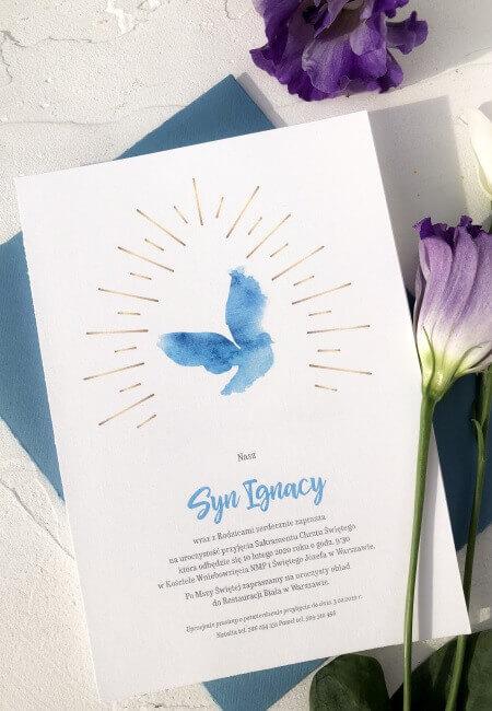 Zaproszenie na chrzest_ Kacper_ Design Your Wedding