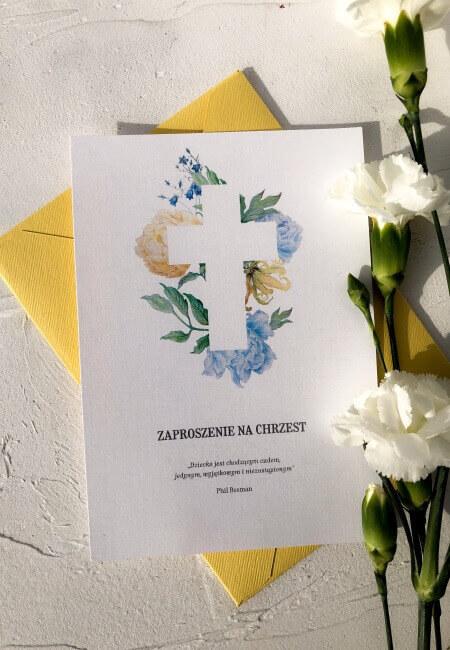 Zaproszenie na chrzest_ Zuzia _ Design Your Wedding