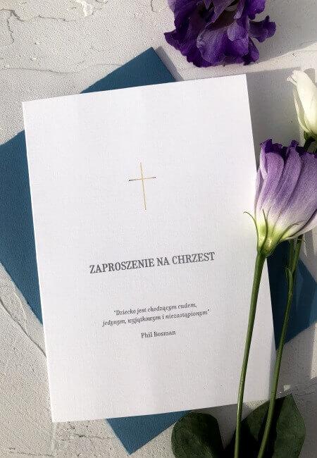 Zaproszenie na chrzest_ dla chlopca _ przod _ Design Your Wedding