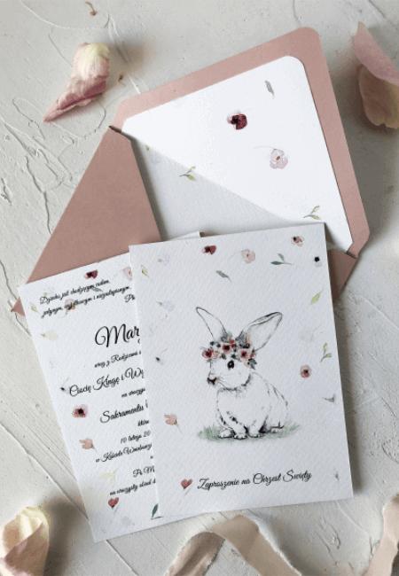 kroliczek chrzest design your wedding zaproszenia na chrzest