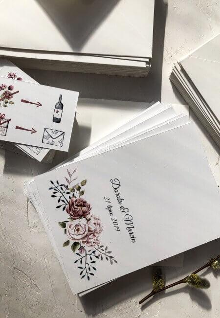 próbka zaproszenia A5 Design Your Wedding