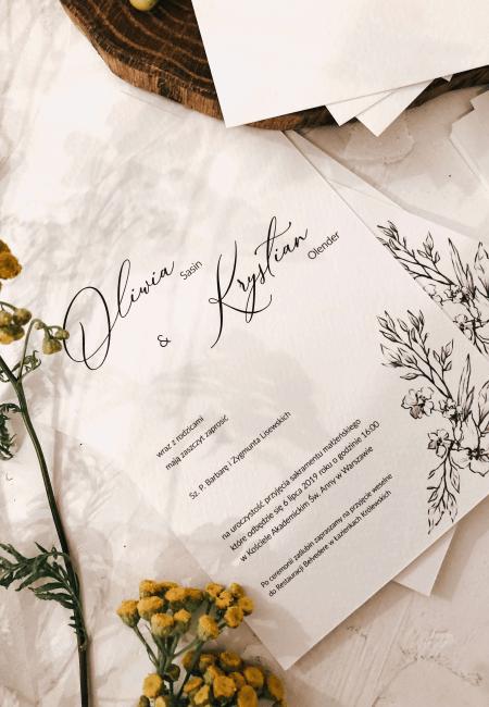 wspomnienie lata Design Your Wedding zaproszenia A6 minimalizm