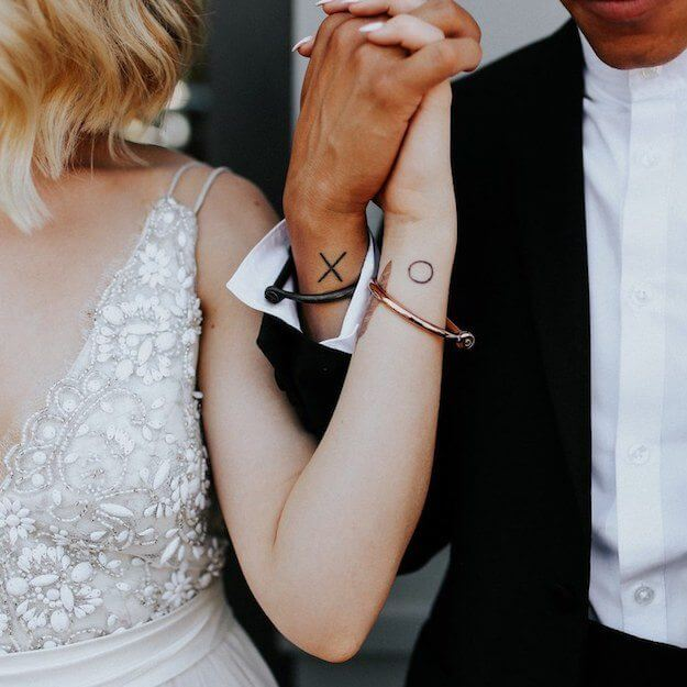 z tatuazami do slubu _ small minimal tattoo wedding inspiration _ Design Your Wedding