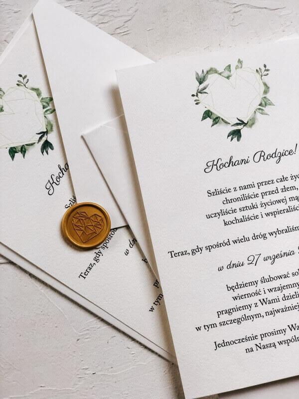 kiedy zamawiac zaproszenia slubne geometryczne serce blogoslawienstwo design your wedding