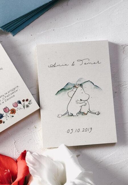 zaproszenia ślubne Muminki _ Design Your Wedding