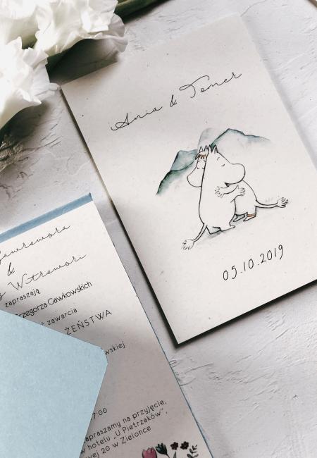 zaproszenia na ślub Muminki Design Your Wedding _ buy now