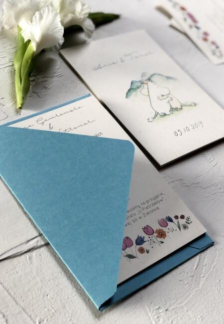 zaproszenia na ślub Muminki Design Your Wedding