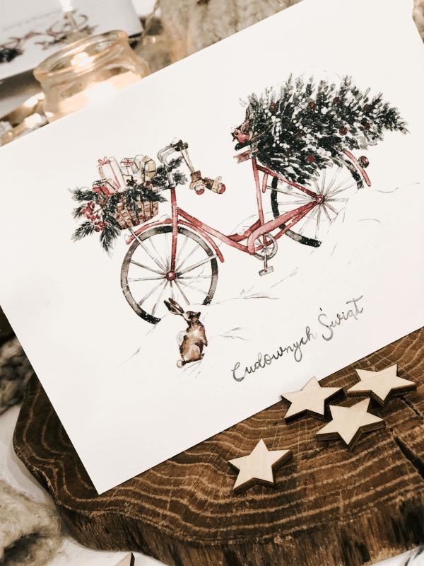 christmas delivery kartka świąteczna