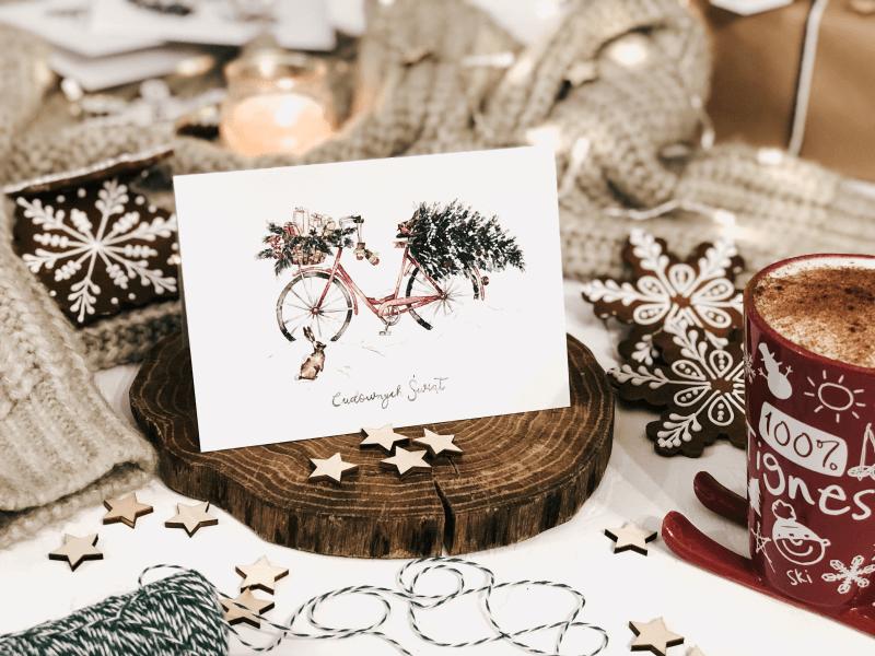 kartka świąteczna christmas delivery design your wedding