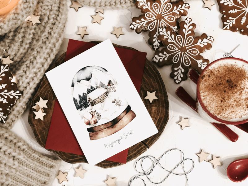 kartka świąteczna christmas snow ball design your wedding