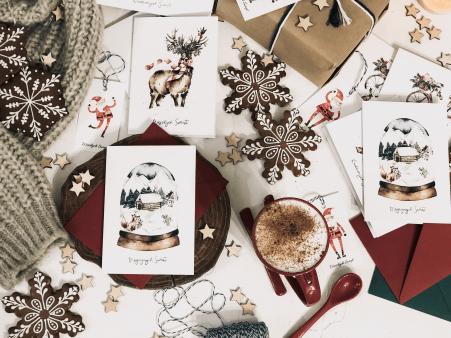 kartka świąteczna magiczne święta design your wedding