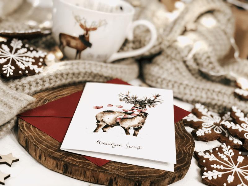 kartka świąteczna merry merry deer design your wedding