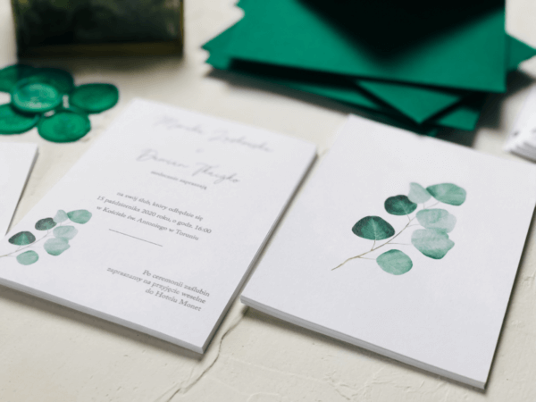 zaproszenia na ślub eukaliptus Design Your Wedding