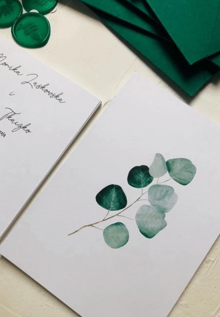 zaproszenia na ślub eukaliptus