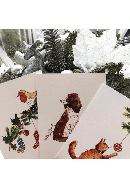 zestaw 3 kartek świątecznych design your wedding