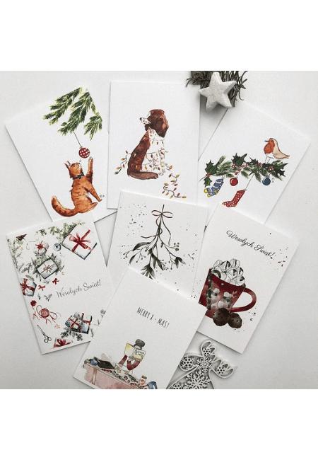 zestaw 7 kartek swiatecznych design your wedding.jpg