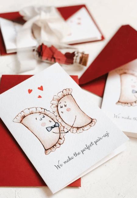 kartka na walentynki pierozki design your wedding