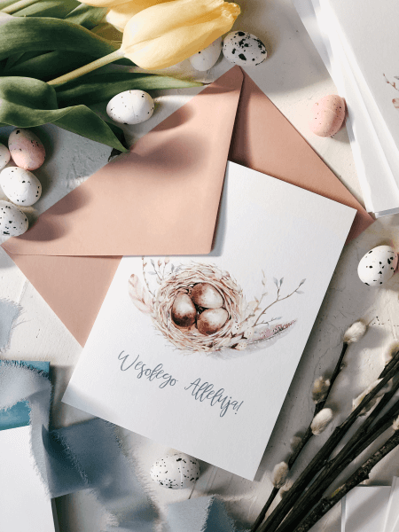 kartka wielkanocna easter eggs design your wedding