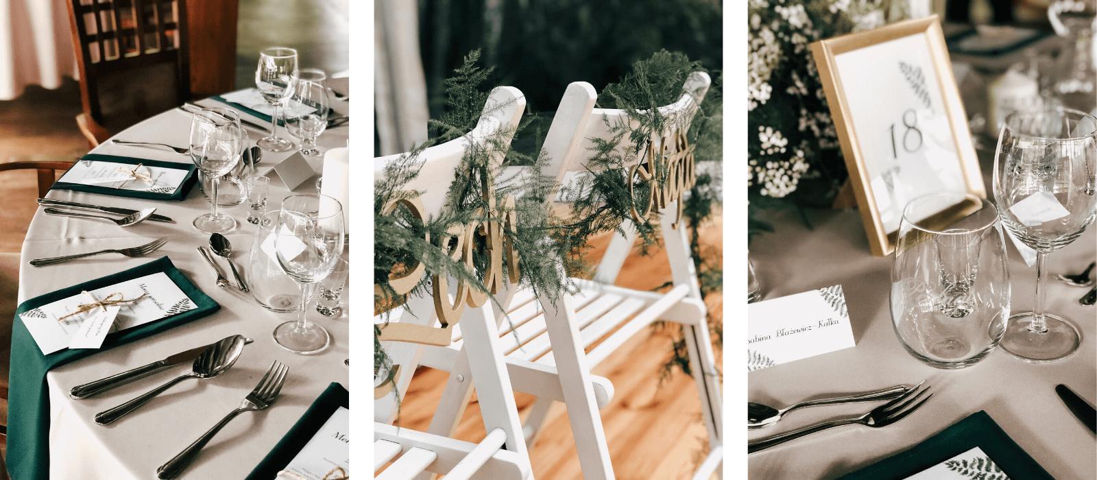 realizacje dodatki weselne paproć design your wedding