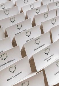 Winietki składane geometryczne serce design your wedding