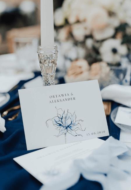 minimalistyczne zaproszenia ślubne classic blue Design Your Wedding