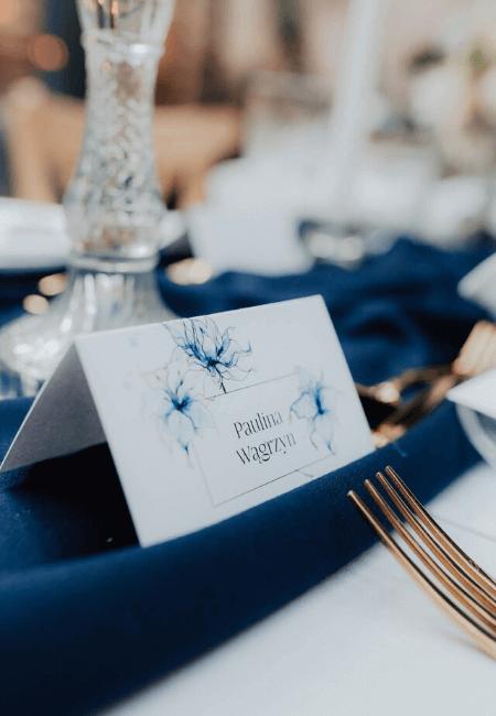 winietka ślubna classic blue design your wedding